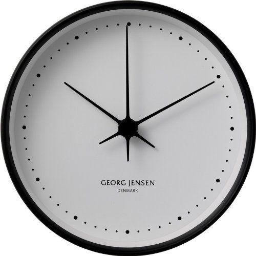 Georg Jensen // Henning Koppel // Ur, termometer og hygrometer // Sort ramme med hvid skive