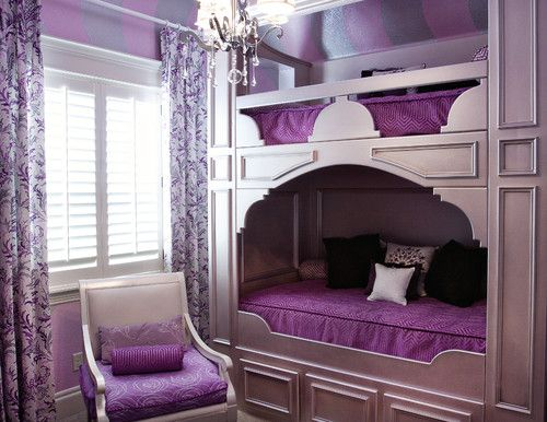 purple princess room....why cant i just switch rooms with these people???!