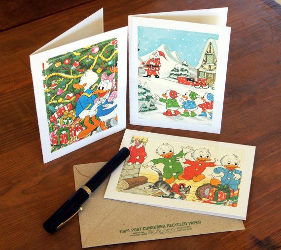 Christmas Cards  Donald Duck and Daisy Huey Dewey by MagpieSailor