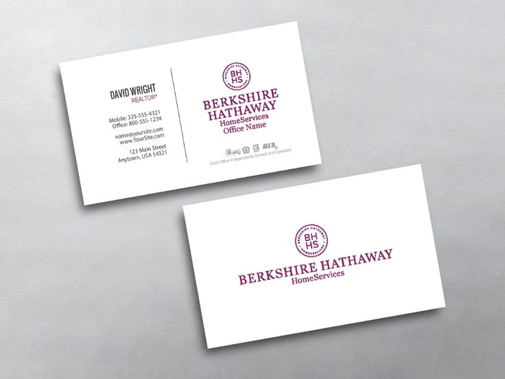 Perfect 12 best Berkshire Hathaway Realty Agent Business Card Templates  GM09
