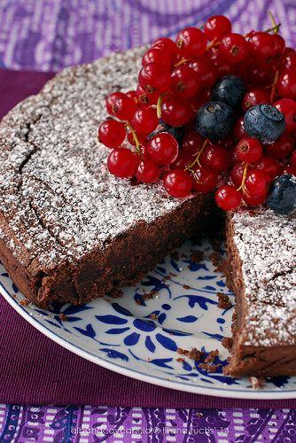 cake de chocolate con harina de castañas
