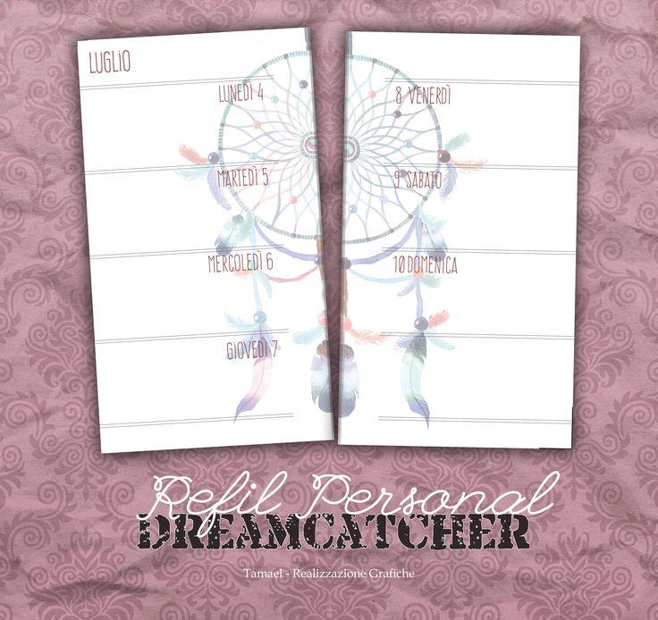 Nome: DreamCatcher Dimensione: Refil Tipologia: Settimana su 2 Pagine - Consecutivo Note: Ampio spazio libero dopo la domenica per appuntare le cose importanti.