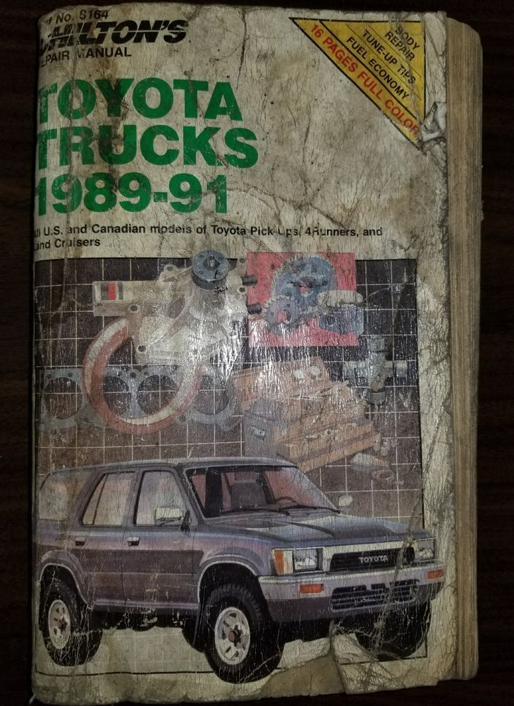 Chilton Toyota Trucks 1989 1991 Repair Manual Ch8164 Repair Manuals Toyota Trucks Repair