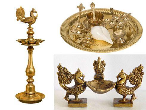 brass lamps and puja items http://godsmantra.com/spiritual-items/