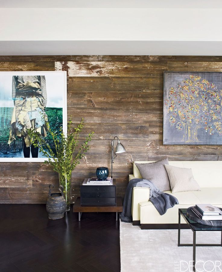Try Rustic Reclaimed Wood - ELLEDecor.com