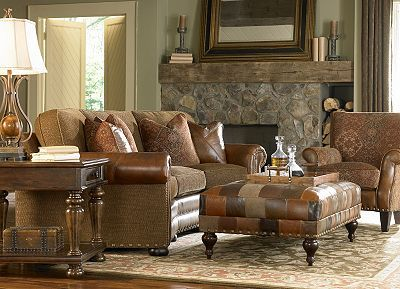 Haverty 39 S Nathan Like The Combo Of Tapestry And Leather And Like Style O