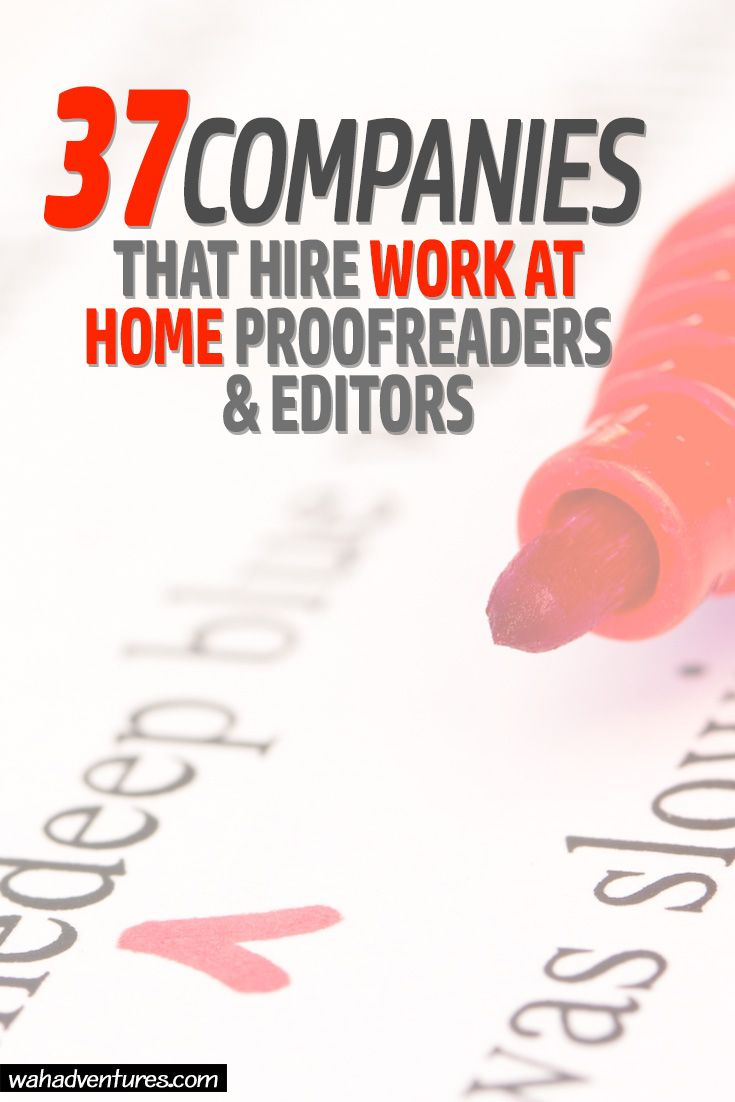 These 37 work from home proofreading and editing jobs are right up your alley if you have a way with words! Get paid to do what you love from your home office.  via @wahadventures
