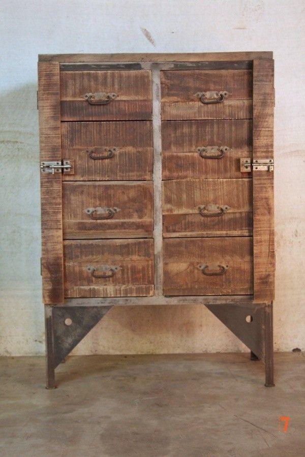 35 best images about ferraille on pinterest for Armoire industrielle bois