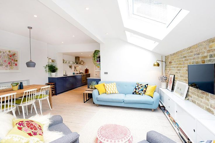 London flat extension living room seating #scandi #interiors #flats