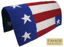 """Tahoe Tack Patriotic American Flag Horse Saddle Pad Blanket Acrylic 32"""" x 32"""" // Description Show off your patriotic pride with this American Flag saddle blanket. Complete with red, white, and blue stripes and white stars. // Details Sales Rank: #300854 in Sports & Outdoors Brand: Tahoe Tack Features Extra large show saddle blanket American flag design Acrylic Blend Blanket Size: 32 x// read more >>> http://Greenhill931.iigogogo.tk/detail3.php?a=B00G6MVUAA"""