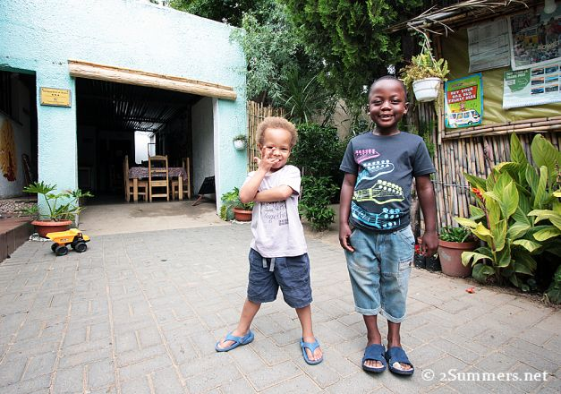 Kids at Lebo's Cycling in Soweto - we sent @Jeri Harrison Heather Mason to Soweto to experience a different side of Gauteng