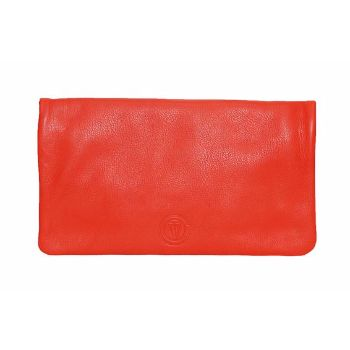 Orange Edinburgh Bag : Orange Edinburgh bag. A true multi tasker, it can be worn as a clutch, a cross-body and also opened up to create a messenger. Zip closure, one external zipped pocket. Detachable and adjustable shoulder, cross-body strap.