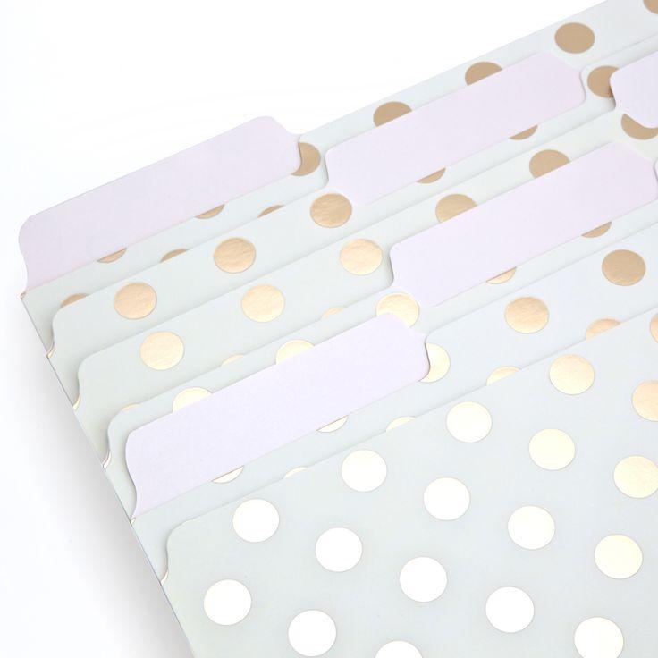 Kate Spade File Folders - Dot. Pretty Office Supplies.