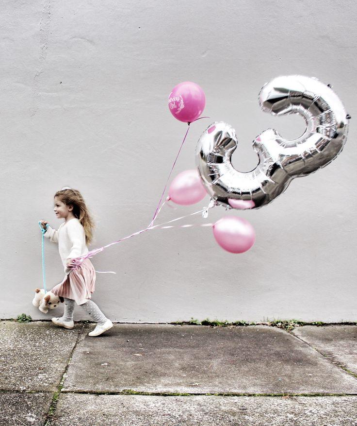 Aria Chanel is Three Little Girl Birthday Inspiration Pic via my Instagram