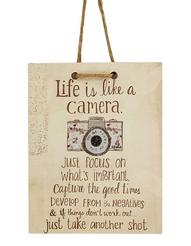 Life Is Like A Camera Tag Sign | Gift for Friend, Handmade in Michigan, Mixed Media Art, Polka Dot Mitten, Unique Graduation Gift| Catching Fireflies