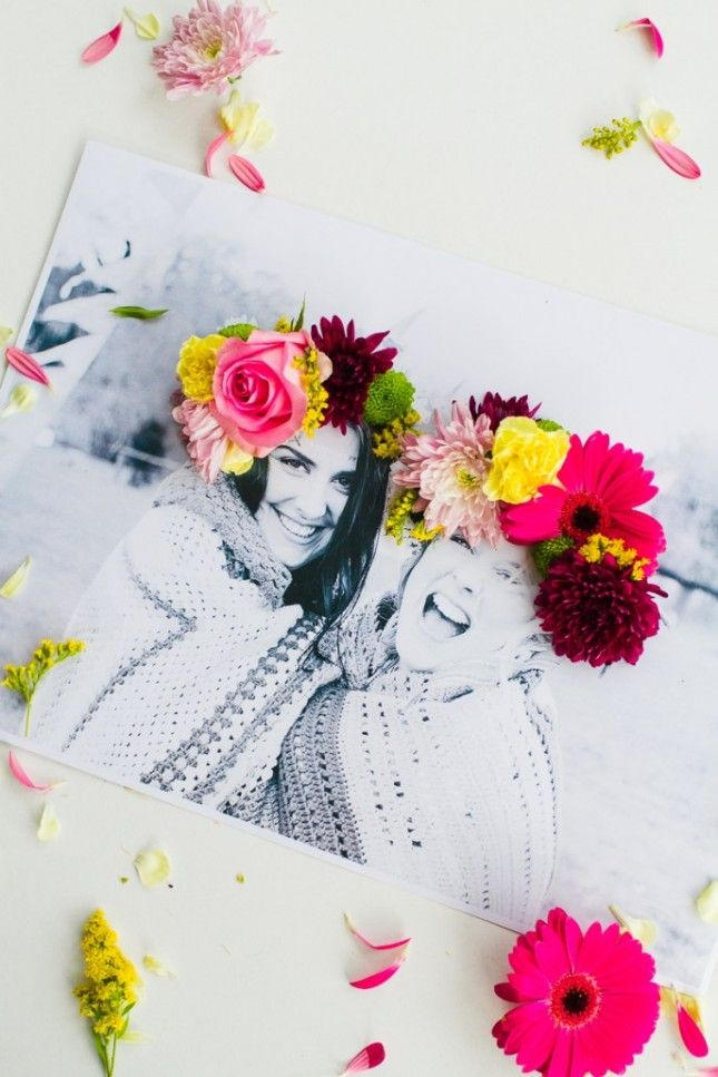 3D Flower Photo Art:18 Mother's Day Gift Ideas That Go Beyond the Bouquet via Brit + Co