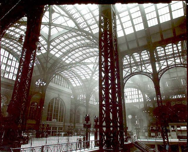 Berenice Abbott: Penn Station, Interior, Manhattan: Bernic Abbott, Training Stations, Penn Stations, New York Cities, Berenic Abbott, Art Prints, Pennsylvania Stations, Public Libraries, Beren Abbott