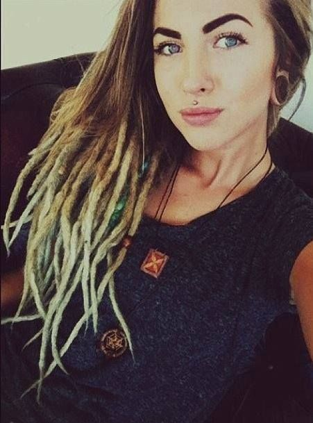 Lovley dreadlock girl,  Check out http://www.dreadstuff.com for dreadlock products, knitted dreadlock hats, and dreadlock accessories!
