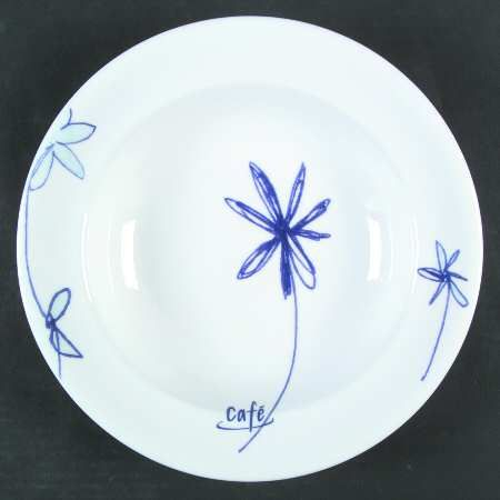 """11"""" Individual Pasta Bowl in the Flowers Cafe pattern by Royal Doulton China"""