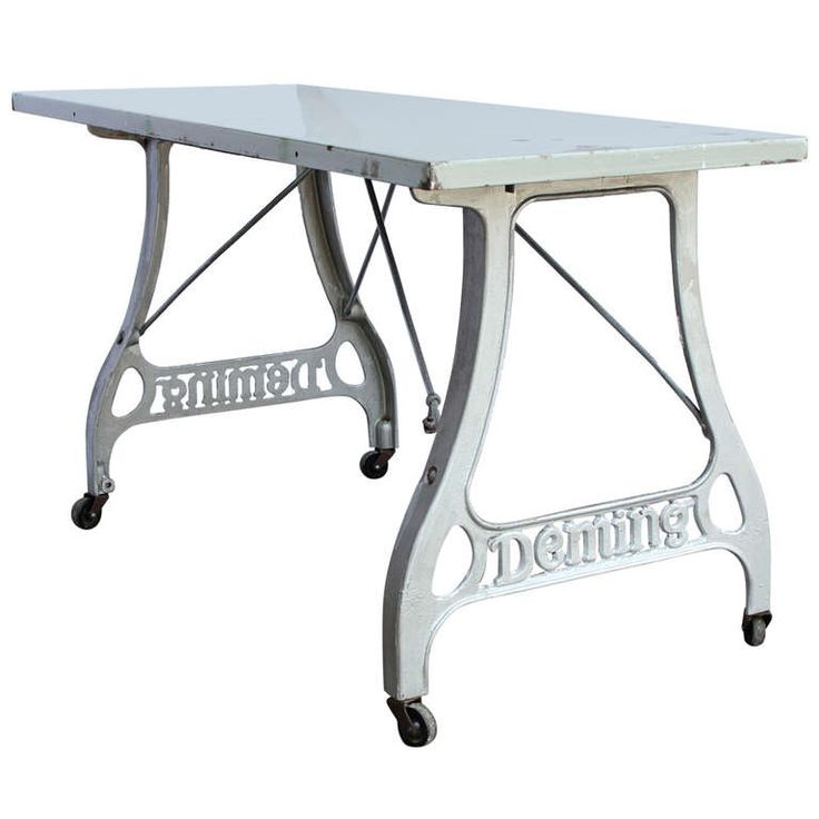 Antique Industrial Folding Table | From a unique collection of antique and modern industrial and work tables at https://www.1stdibs.com/furniture/tables/industrial-work-tables/