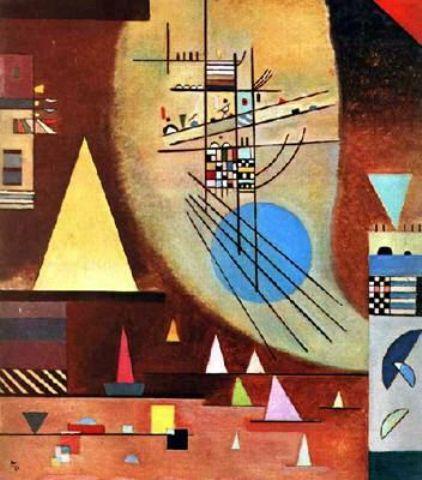 Kandinsky >> Silencioso | (dibujo, obra de arte, reproducción, copia, pintura).