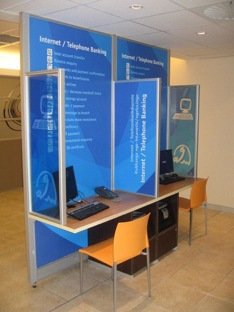 Use of power panels at Standard Banks national retail banks.