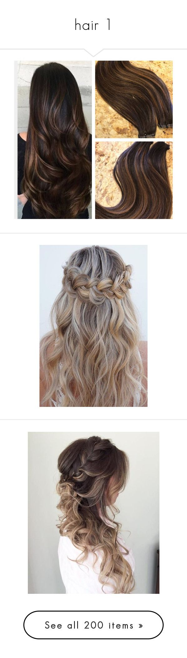 """""""hair 1"""" by evaaaaa-333 ❤ liked on Polyvore featuring beauty products, haircare, hair styling tools, hair, accessories, dark olive, hair accessories, makeup, fine hair care and curling iron"""