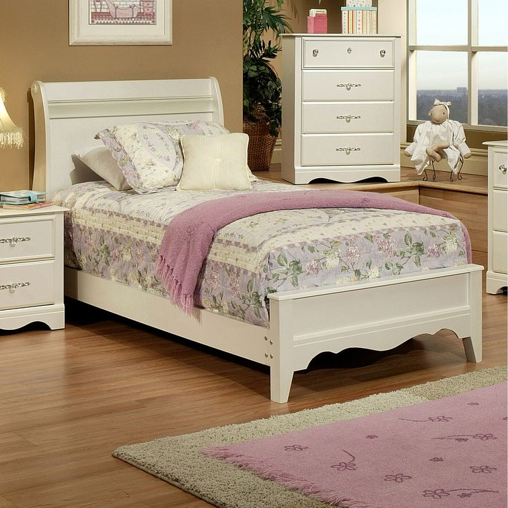 Sandberg Furniture Enchanted Twin Sleigh Bed