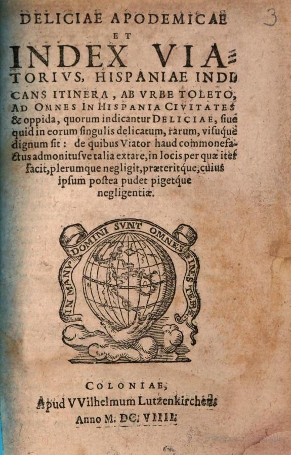 Deliciae apodemicae - Gaspar Ens - 1609