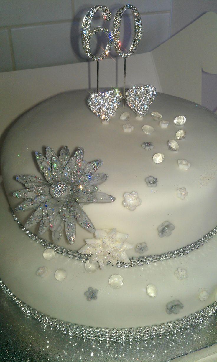60th wedding anniverary cake   60th wedding anniversary cake!   Pretty Desserts