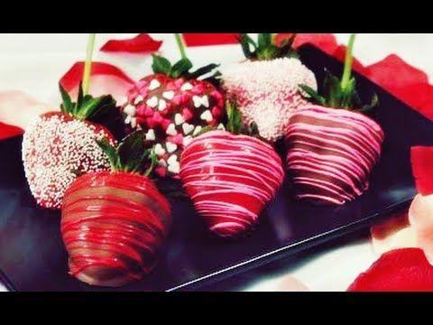 Dulces tentaciones/Como Hacer Bombones de Chocolate con Fresa :)