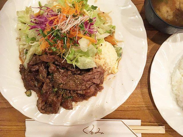 . くるみには人気のインディアンオムライス以外にもメニューがございまして。焼肉サラダセット!サラダの店でもあるため、サラダの量は焼肉に覆い被さる勢い!おすすめはオムライス。 #京都#京都グルメ#京都ランチ#ランチ#京都オムライス#オムライス#洋食#焼肉#肉#くるみ#寺町#グルメ#京都のグルメマン#タキグルマン#kyoto#kyotofood#kyotolunch#lunch#omurice#yakiniku#food#foodstagram#takiguruman