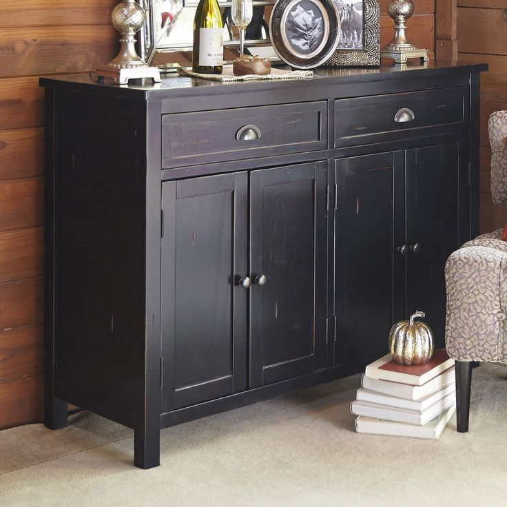 Torrance Rubbed Black Buffet Table