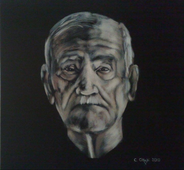 """Eldelerious""  24"" X 24""  Acrylic On Canvas  Christopher O'Hoski  http://www.facebook.com/christopherohoski"