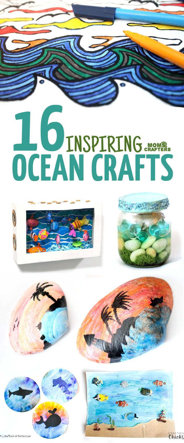 Summer crafts coloring pages - 16 Breeze Ocean Crafts
