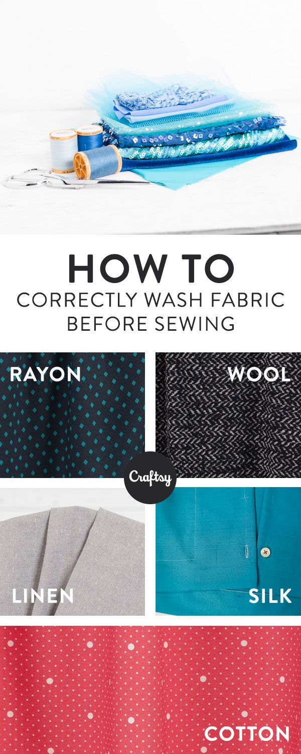 Learn all about pre-treating the fabric you sew with. In the end, you'll be glad you took the time to prevent shrinkage problems in a completed garment.