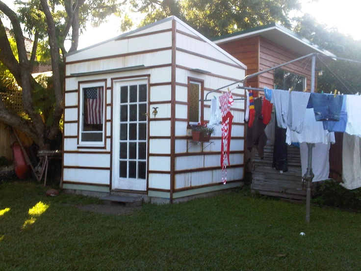 Artist Stuido,  Cladding, battens and paint undercoat completed