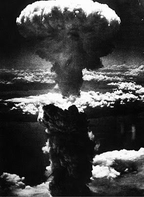 August 6, 1945. The U.S. AIR FORCE bomber 'ENOLA GAY' drops an ATOMIC bomb on the Japanese city of HIROSHIMA, ultimately killing 166,000 people.