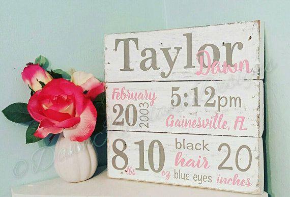 New Baby/Birth Announcement Pallet Sign/ by DawnKirklandDesigns