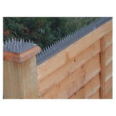 Home Security Fence Prikka Strip. Take that raccoons! also i used electric fencing.