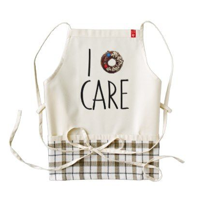i do not care don't donut funny text message dough zazzle HEART apron - decor gifts diy home & living cyo giftidea