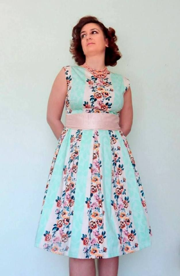 Custom made vintage reproduction floral tea dress.