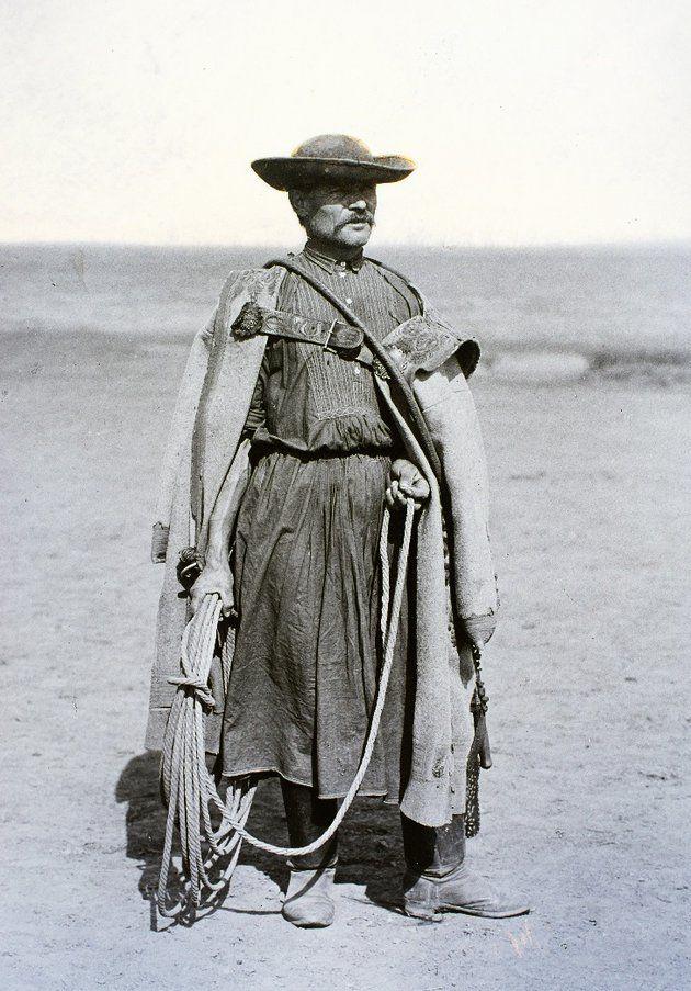 "Hungarian wrangler (""csikós""), Hortobágy, 1908"
