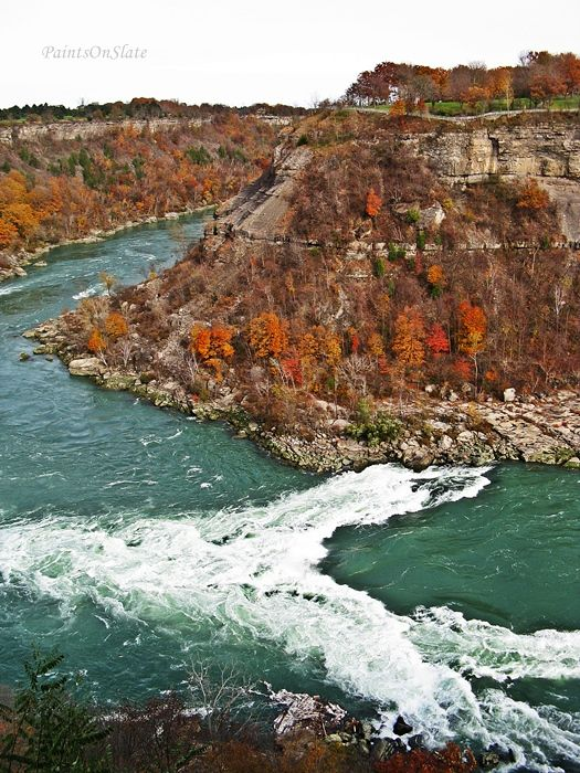 Just down the river fron Niagara Falls