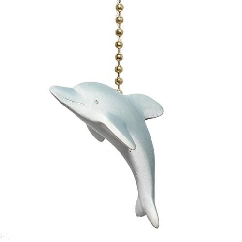 Great DOLPHIN nautical beach decor Ceiling Fan Pull Fanpull
