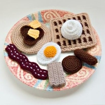 Crochet Breakfast Food Pattern Collection PDF. $4.00, via Etsy.