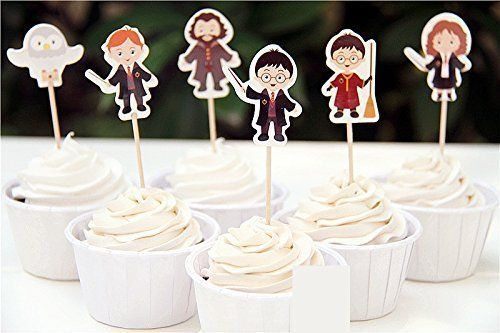 24pcs Harry Potter Cupcake Topper Cake Decorations Fruit Picks Baby Shower Kids Birthday Party Supplies - http://partysuppliesanddecorations.com/24pcs-harry-potter-cupcake-topper-cake-decorations-fruit-picks-baby-shower-kids-birthday-party-supplies.html