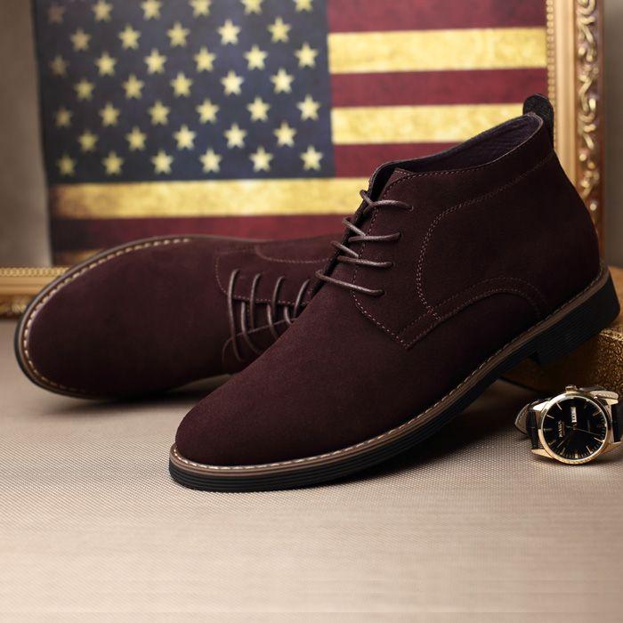 e4a3227e6a7 Encontrar Más Botas de hombre Información acerca de 100% cuero genuino  botines de piel cálido