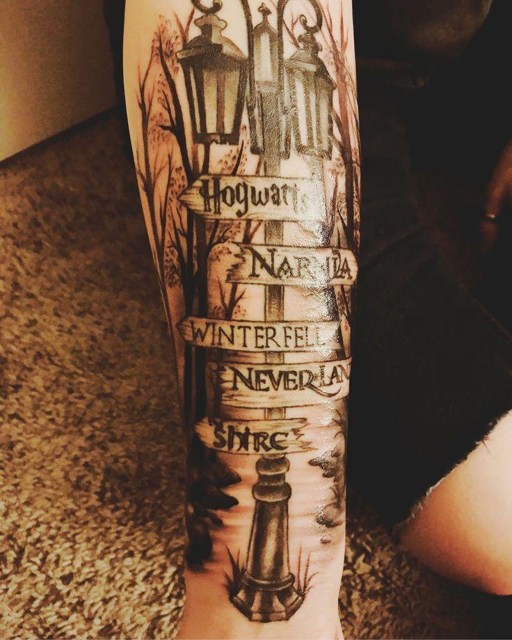 Nerd Tattoo :) Ich habe es geschafft #tattoo #nerd #narnia #theshire #neverland