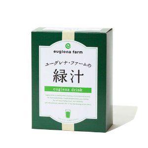 ユーグレナファームの緑汁。母が毎日飲んでいるので、少し気になっている。